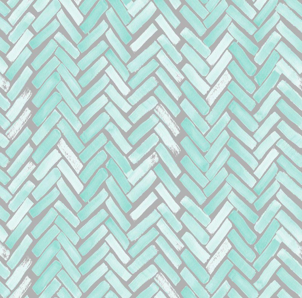 Green Blue Gray Chevron Fabric Gray Mint par Spoonflower sur Etsy ...