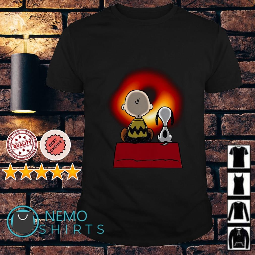 Snoopy And Charlie Brown Watching Cosmic Black Hole Shirt Hoodie Black Hole Shirt Black Hole Nemo Shirt