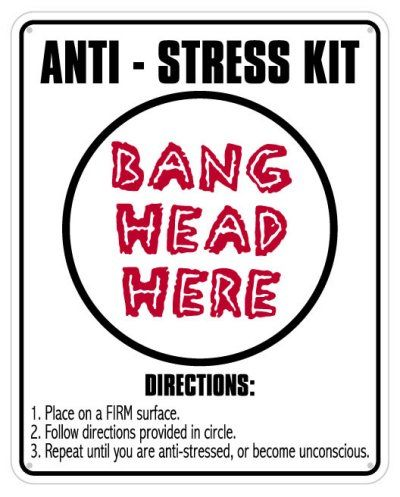 Anti Stress Kit Sign Funny Desk Signs Office Toys