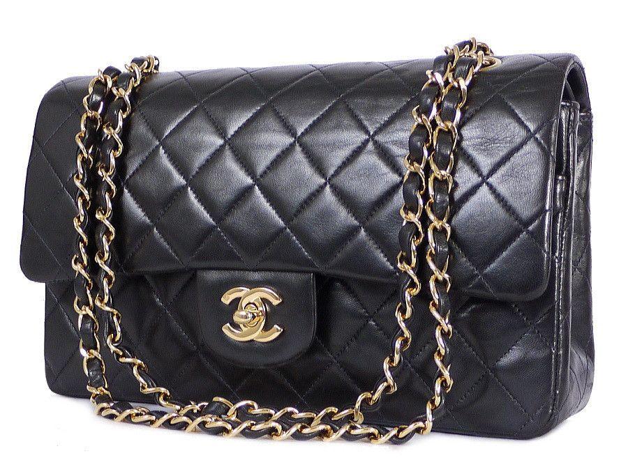 d0e391128 Chanel 2.55 Double Flap Classic Shoulder Bag 25cm Black | Products ...