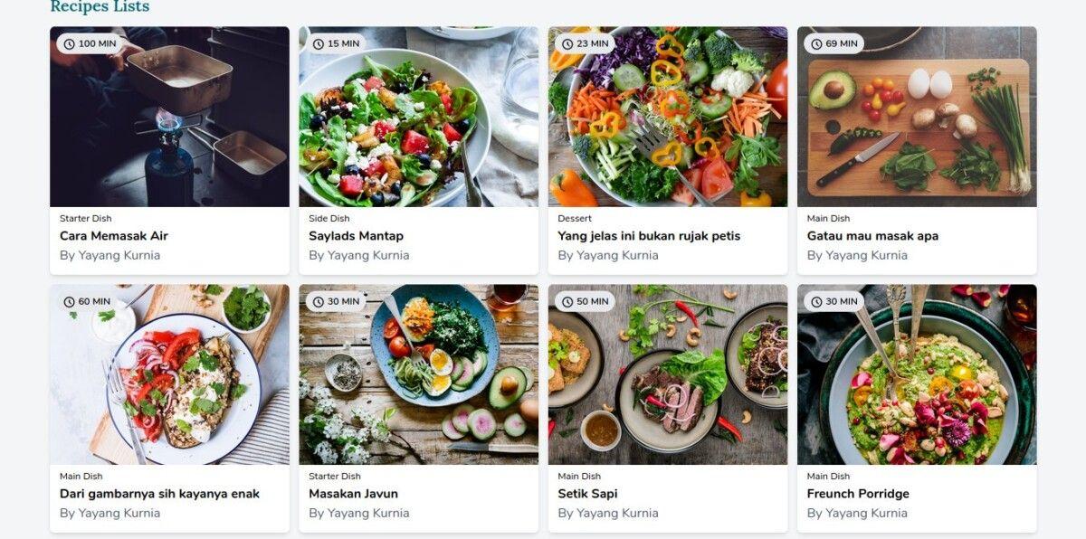 Source Code Aplikasi Resep Makanan Berbasis Web Resep Makanan Resep Masakan Makanan