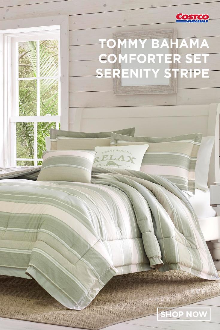 Tommy Bahama 5 Piece Comforter Set Serenity Stripe Comforter
