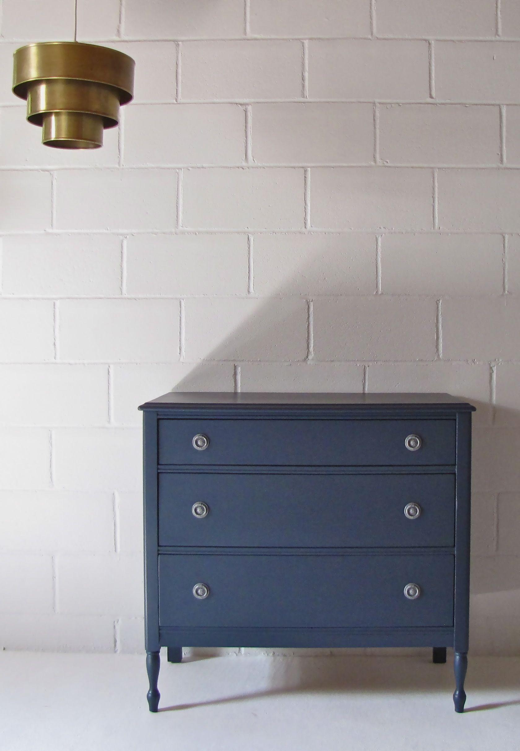 Best Dark Blue Antique Dresser Blue Painted Dresser Rustic 400 x 300