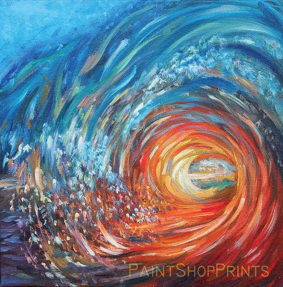Painting Print Original  Scenic Ocean Wave by PaintShopPrints