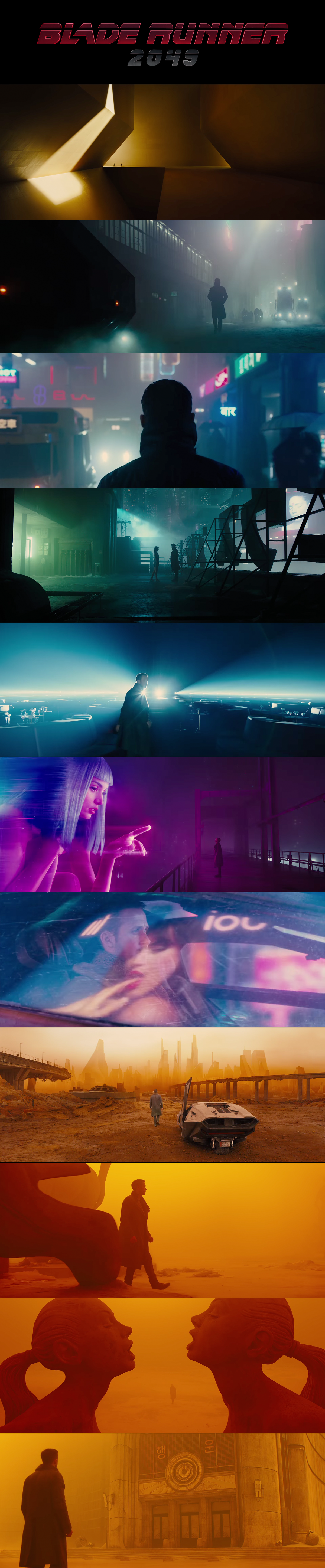 Blade Runner 2049 Amazing Palette Color Cinematography Pinterest