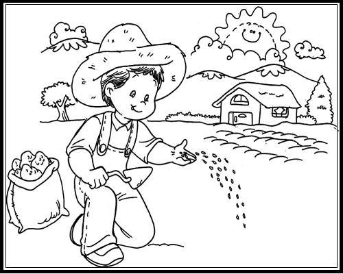 Poema Por El Dia Del Campesino Para Niños De Inicial Imagenes Para Colorear Por Dia Del Campesino 24 Junio Dia Del