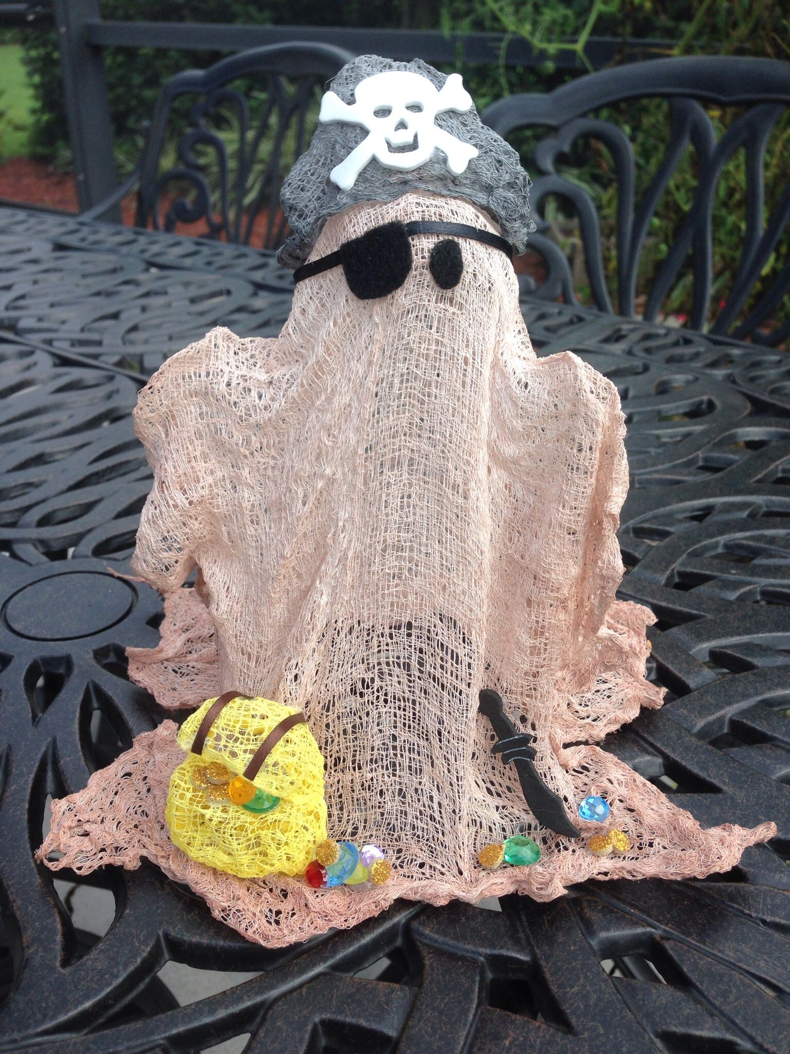 Pirate Ghost from Cheesecloth Halloween Ghost Decorations - Halloween Ghost Decorations
