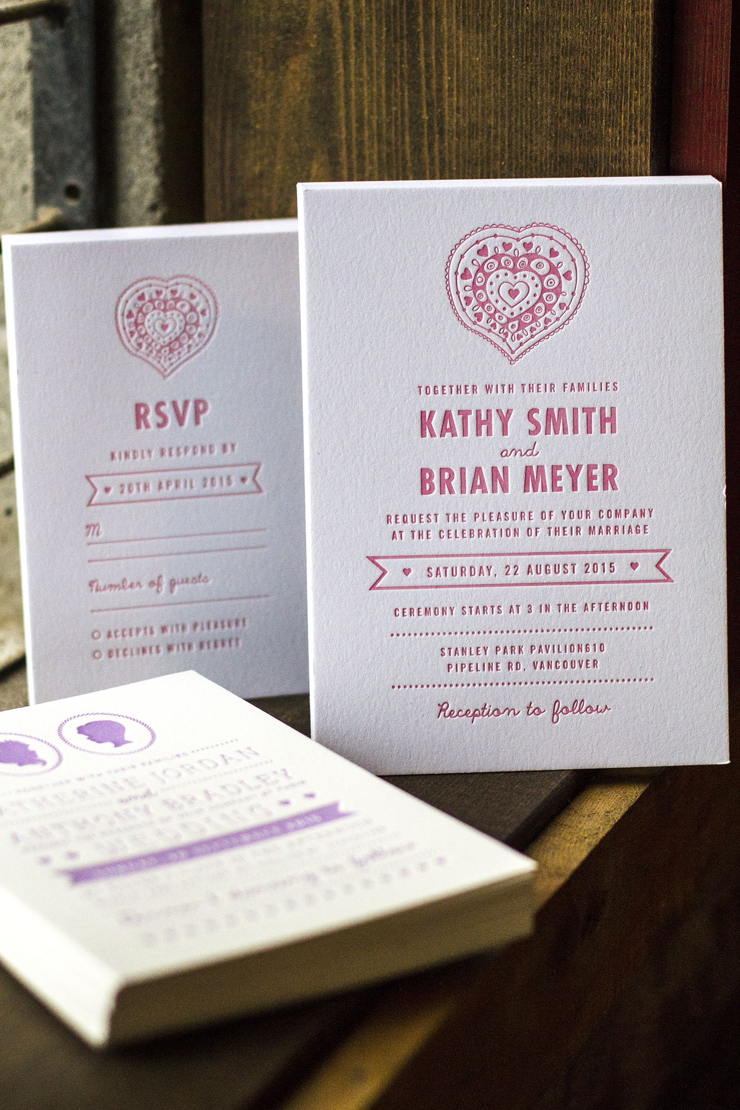wedding invitations from jukebox print letterpress on cotton stock