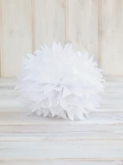 Paper Pom Pom Modern White- Sweet Tea Party Supplies