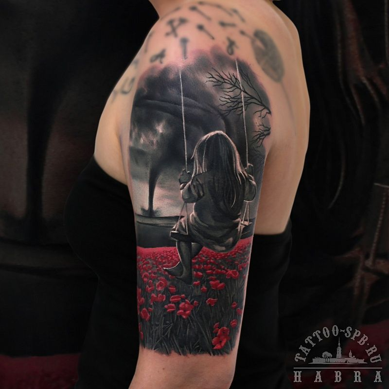 Tattoo Nikolay Ivanov - tattoo's photo  In the style  Realistic, Girls, Flowe (407533)