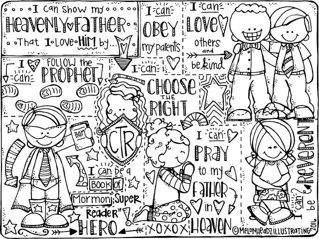 Melonheadz LDS illustrating: coloring page   Primary   Pinterest ...