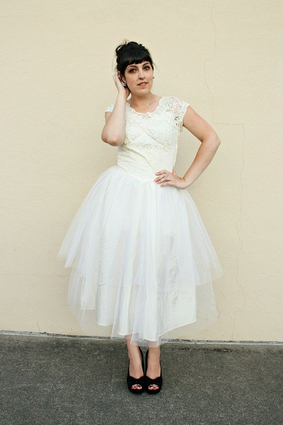 lace and organza dress from the 60's