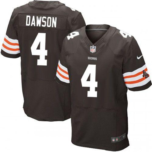 Men Nike Cleveland Browns #4 Phil Dawson Elite Brown Team Color ...