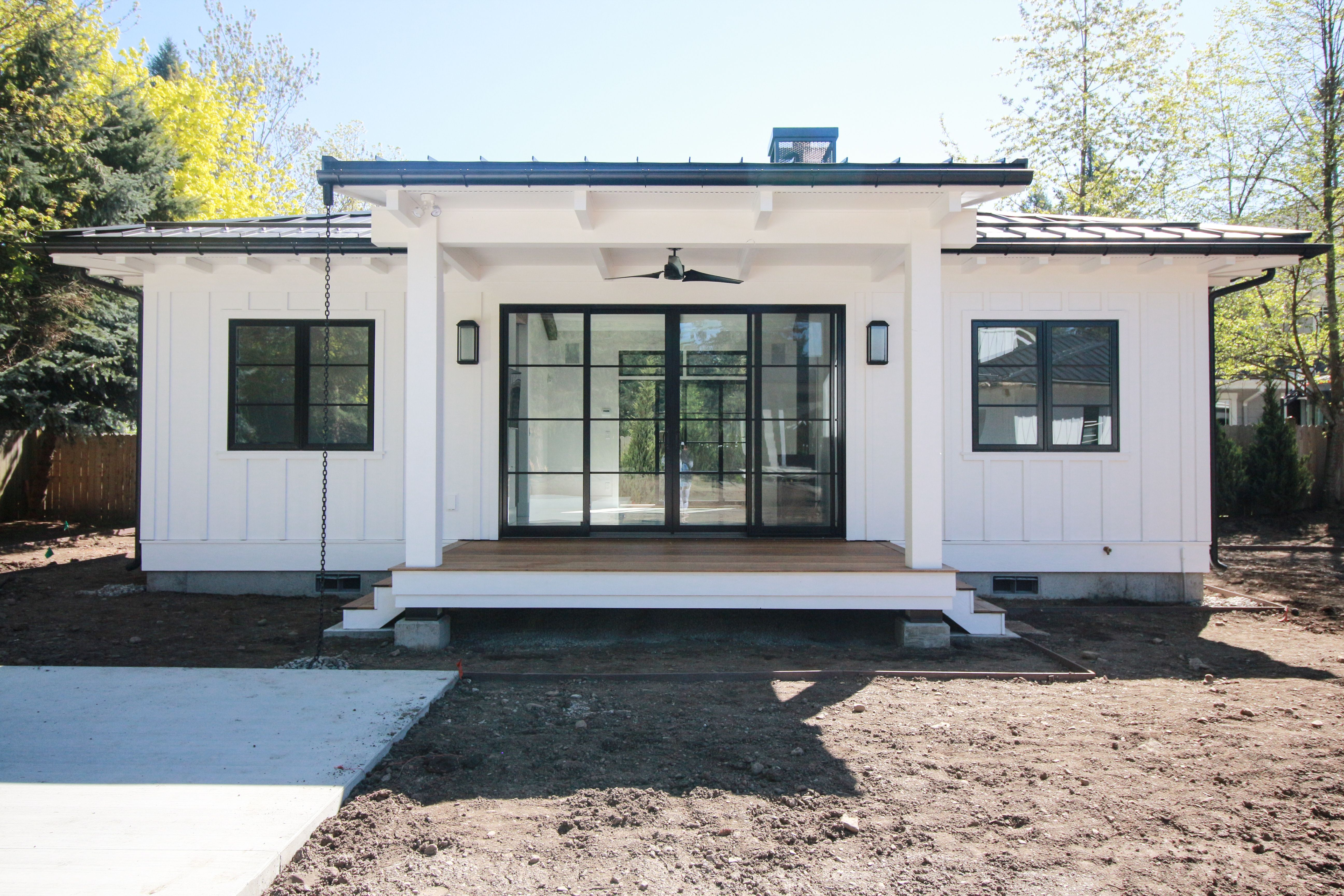 Like this vibe for the denali or retreat white exterior - White house black windows ...