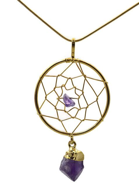Amethyst Dream Catcher Necklace Jewelry With Meaning Perfect For Mesmerizing Dream Catcher Necklace Meaning