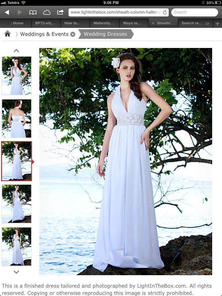 Cute halter nice detail wedding dress faves pinterest
