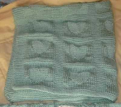 Heart Baby Blanket Free Knit Knitting Pattern Heart