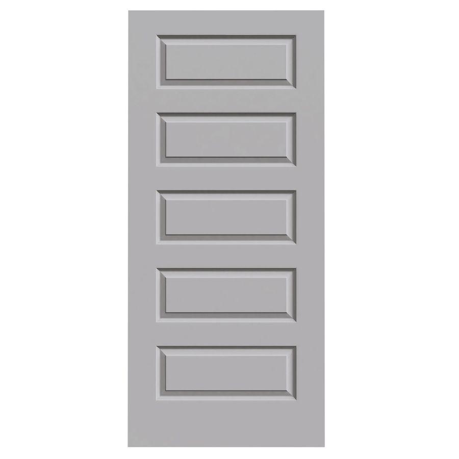 Elegant JELD WEN Driftwood Hollow Core 5 Panel Equal Slab Interior Door (Common: