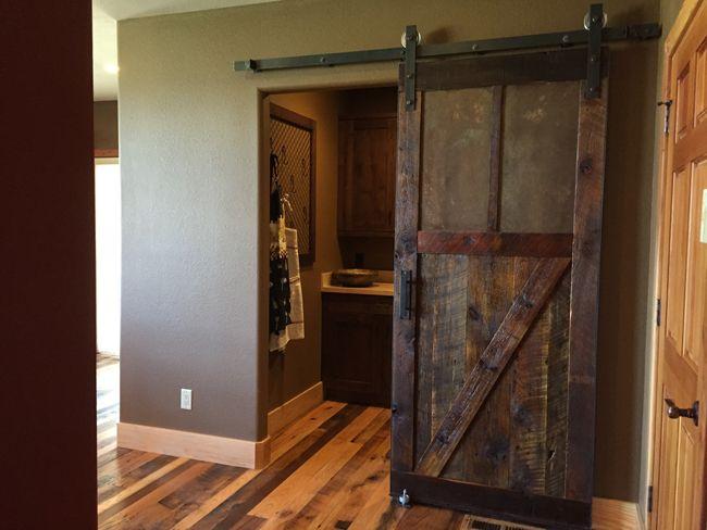 How To Make A Sliding Barn Door Free Plans In 2020 Interior Barn Doors Diy Sliding Door Media Room Design