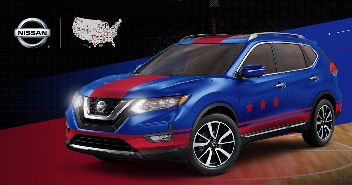 Customize a Nissan Rogue in your school's colors for your