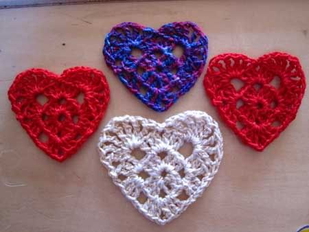 Crocheted Heart Pattern Heart Patterns Crochet And Patterns