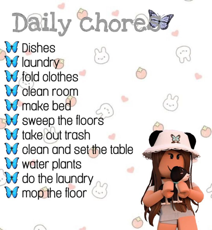Roblox How To Make Decals 2020 A Requested Chores Decal In 2020 School Decal Roblox Codes Coding