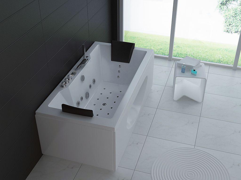 Whirlpool-Badewanne POSARO 180 x 90 cm | Bathroom | Pinterest ...