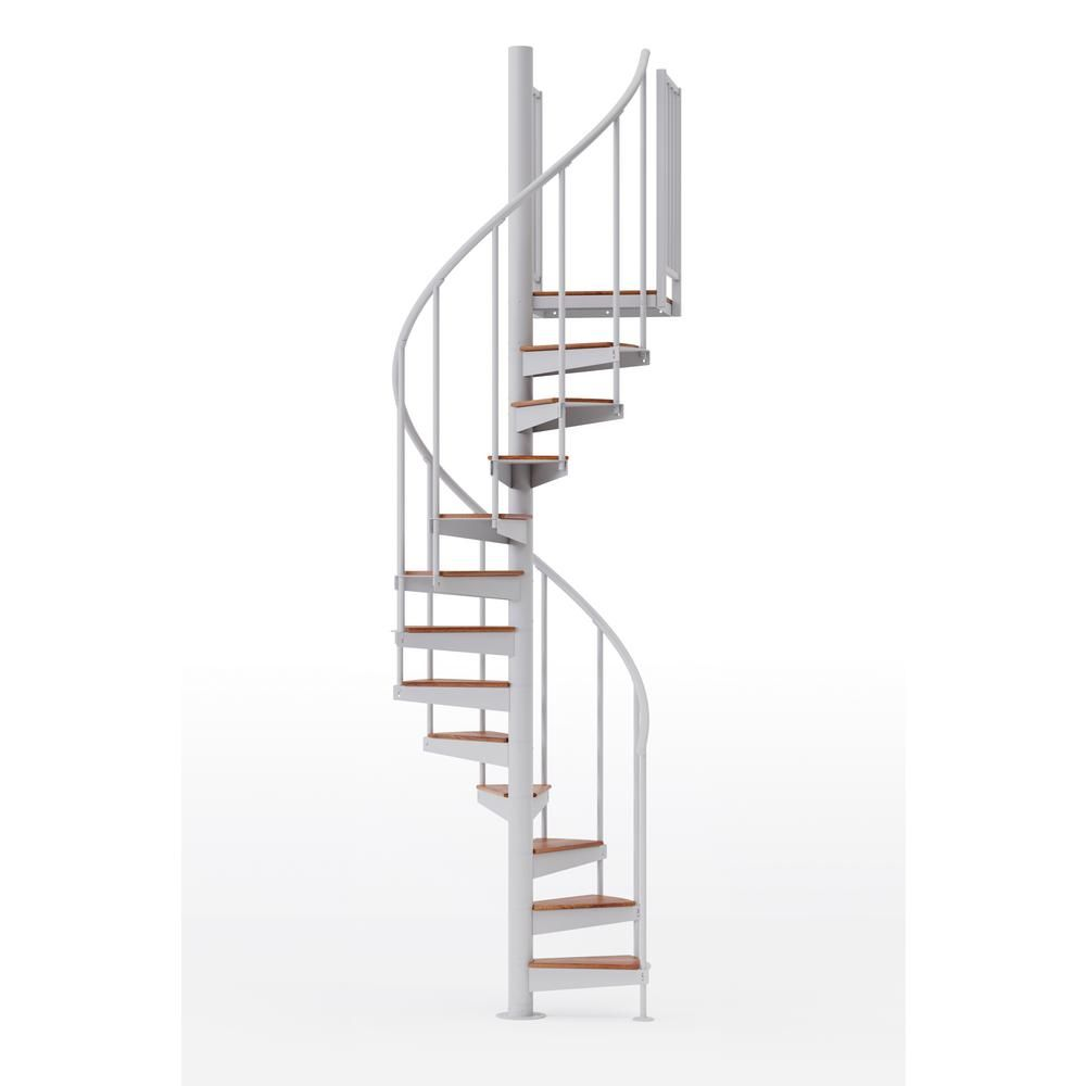 Best Mylen Stairs Condor White 42 3Ft 6In Wide 15 Treads 640 x 480