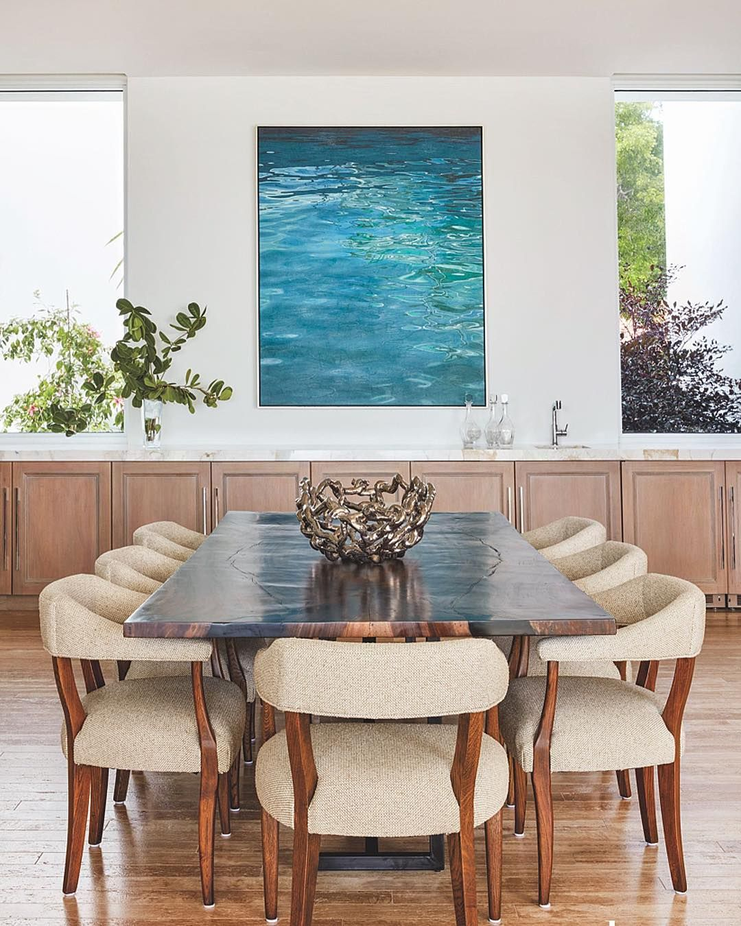 20 Tropical Dining Room Ideas For 2018: Dinner And A View #LuxeAtHome. @sandow