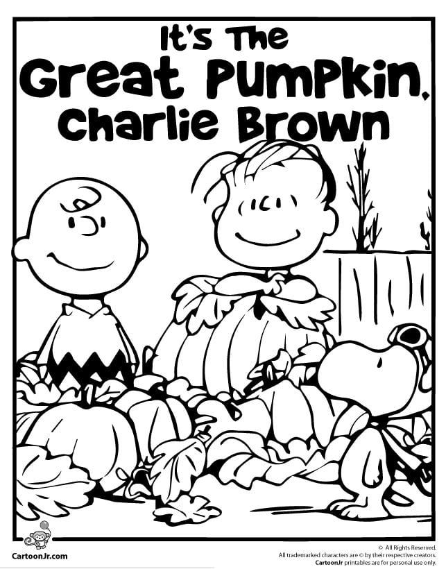 It's the Great Pumpkin Charlie Brown Coloring Pages ...