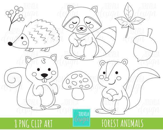 This Item Is Unavailable Etsy Digital Stamps Digi Stamp Woodland Animal Art