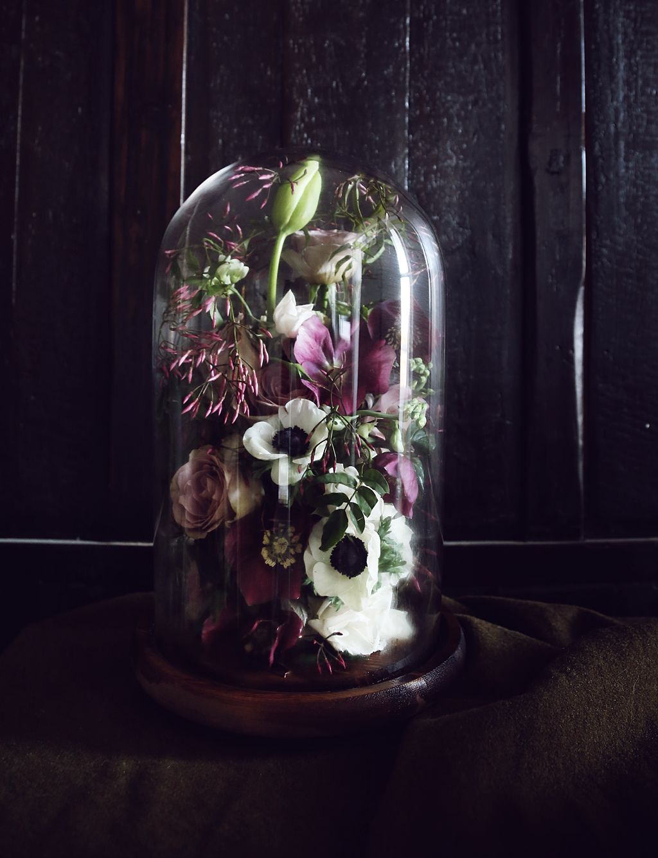 Bell Jar Arrangement Www Putnamputnam Com Putnam And Putnam The Bell Jar Dried Flowers Flower Centerpieces