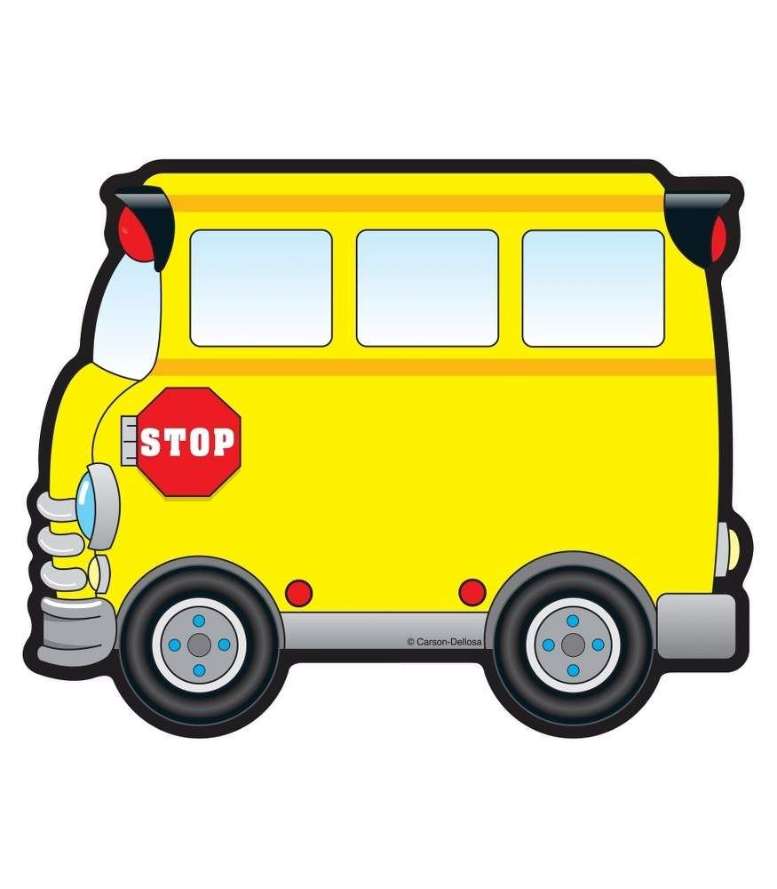 school buses cut outs school buses school and card stock rh pinterest com Large School Bus Clip Art Large School Bus Clip Art