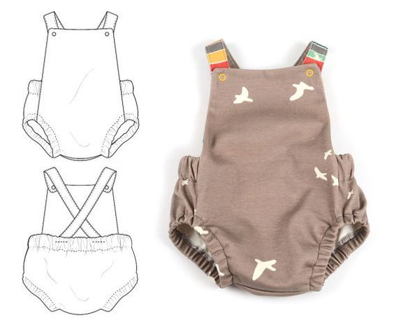 Summer romper sewing pattern // instant download // photo tutorial ...