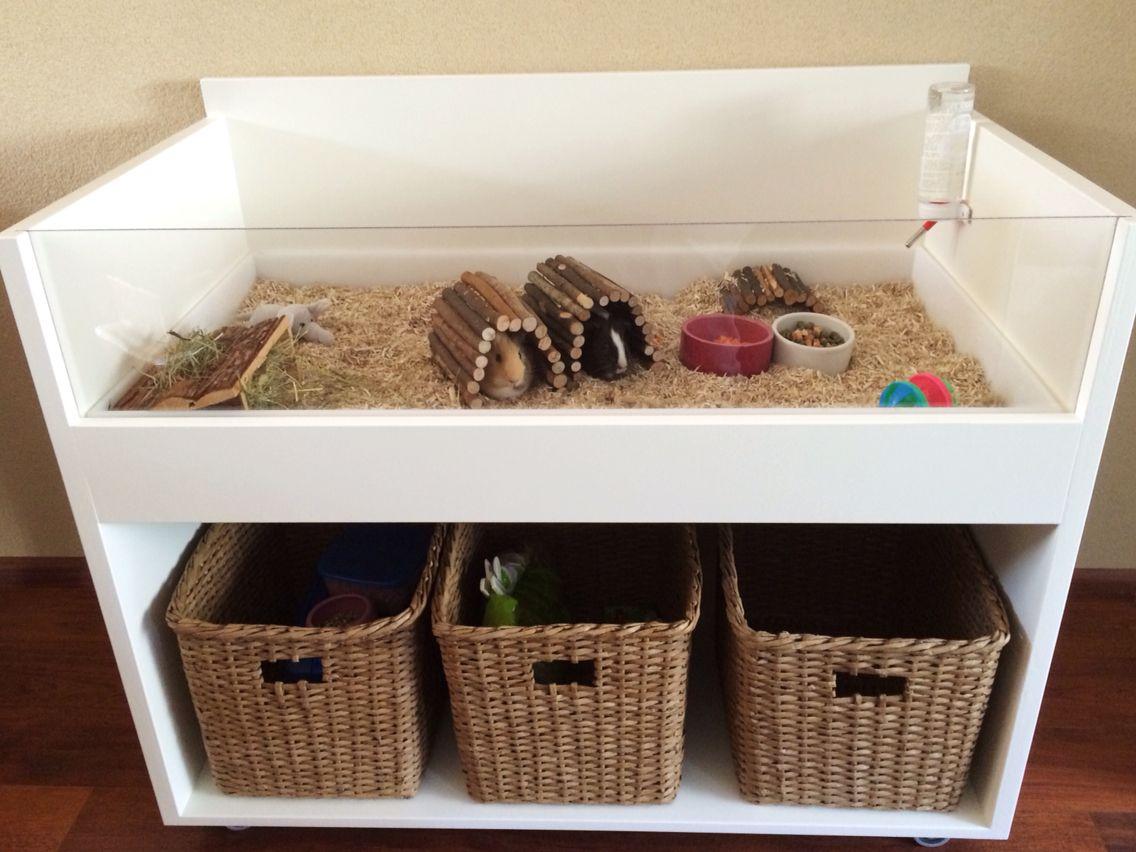 diy guinea pig cage dresser