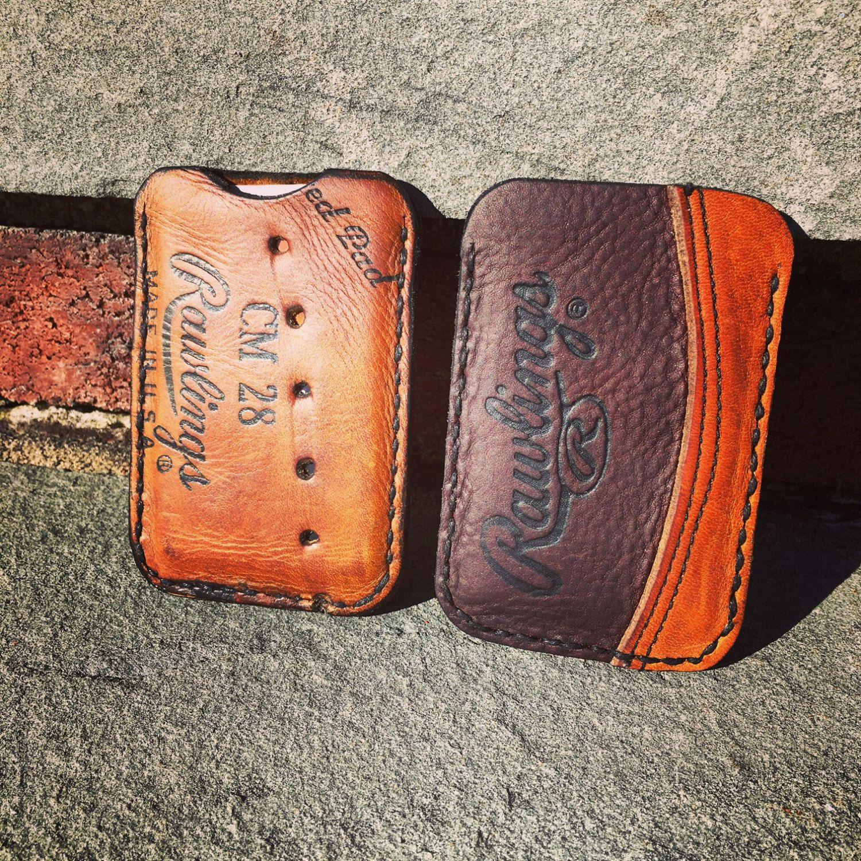Minimalist Leather Single Pocket Baseball Wallets Made From