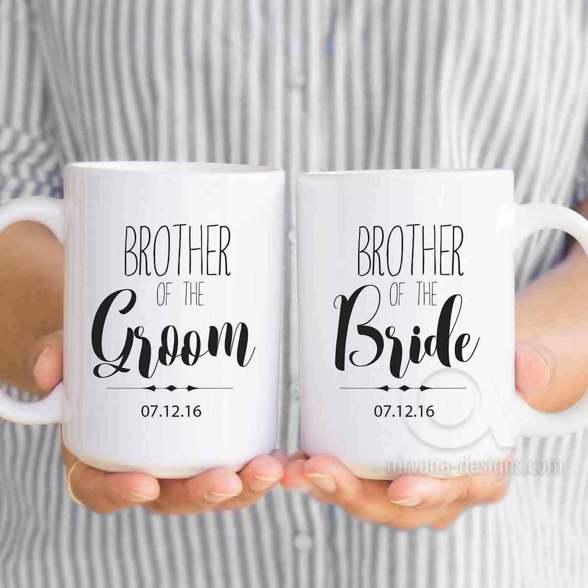 Brother Of The Groom Gift Personalized Mugs Brother Of The Bride Gifts Wedding Gifts Fo 6th Anniversary Gifts Mens Anniversary Gifts Second Anniversary Gift