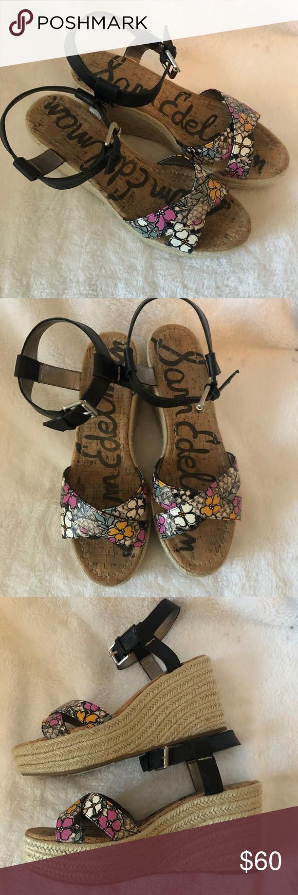 284b758a67e9c NWT Sam Edelman Destin Espadrille Wedge Sandals NEW Sam Edelman Destin  Espadrille Wedge Sandals Shoes size