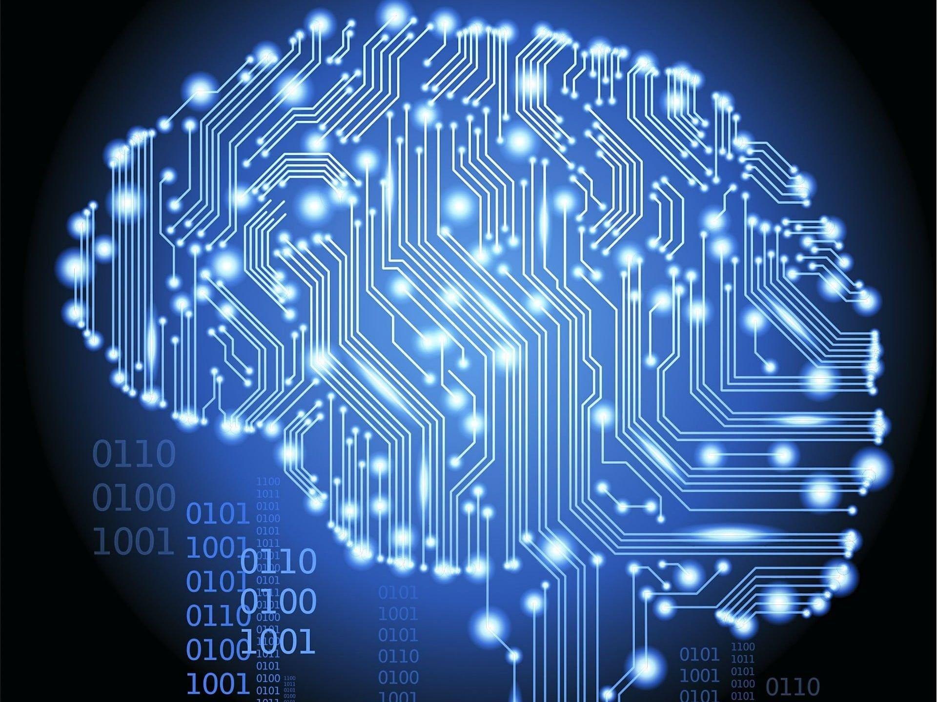 Blue Digital Wallpaper Binary Brain Technology Artificial Intelligence Technology Machine Learning Artificial Intelligence Artificial Intelligence Article