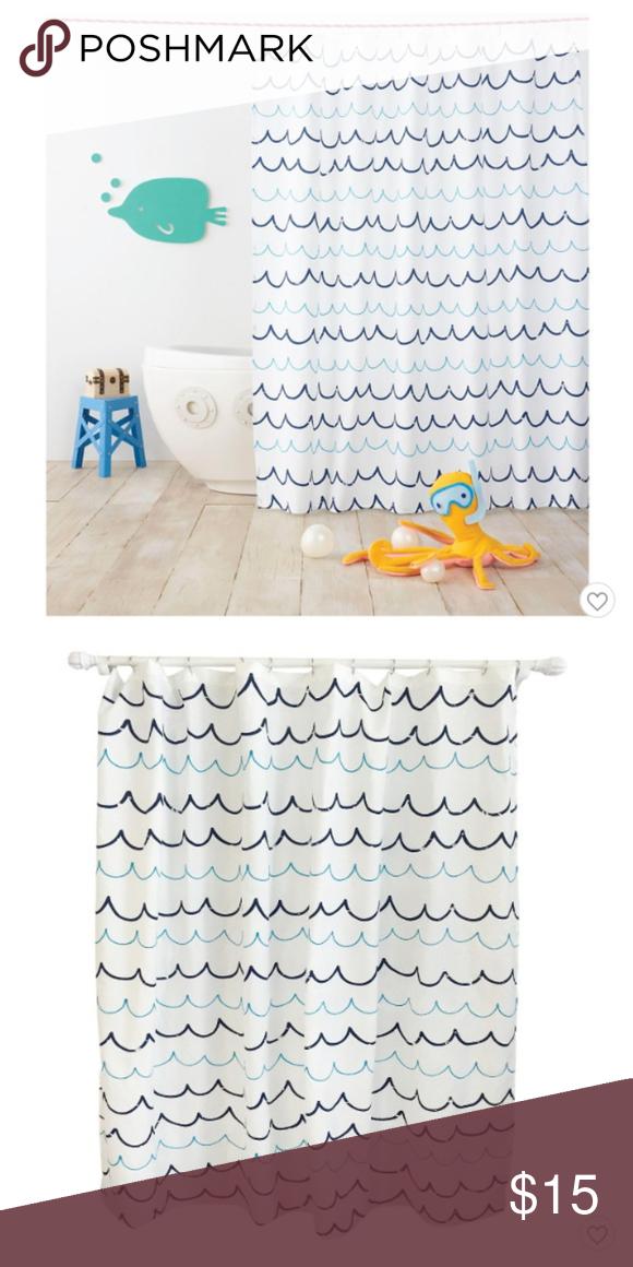 Wave Blue Shower Curtain Pillowfort Pillowfort Wave Blue Shower