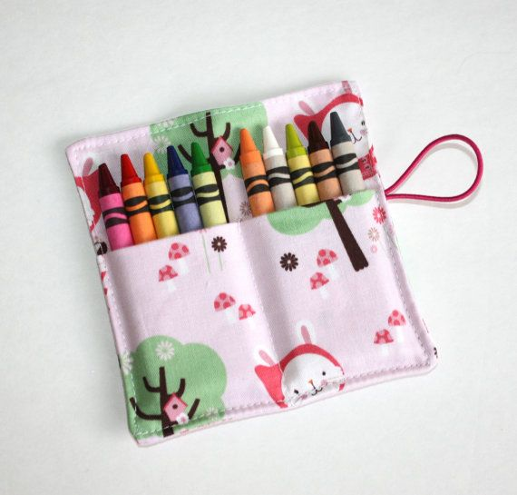 Crayon Rolls Party Favors Red Riding Bunny crayon by FrogBlossoms, $3.00