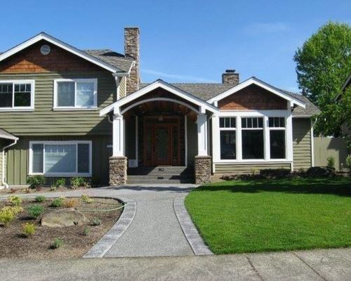 Make a 1975 split level home look new for the home for Craftsman style split level homes
