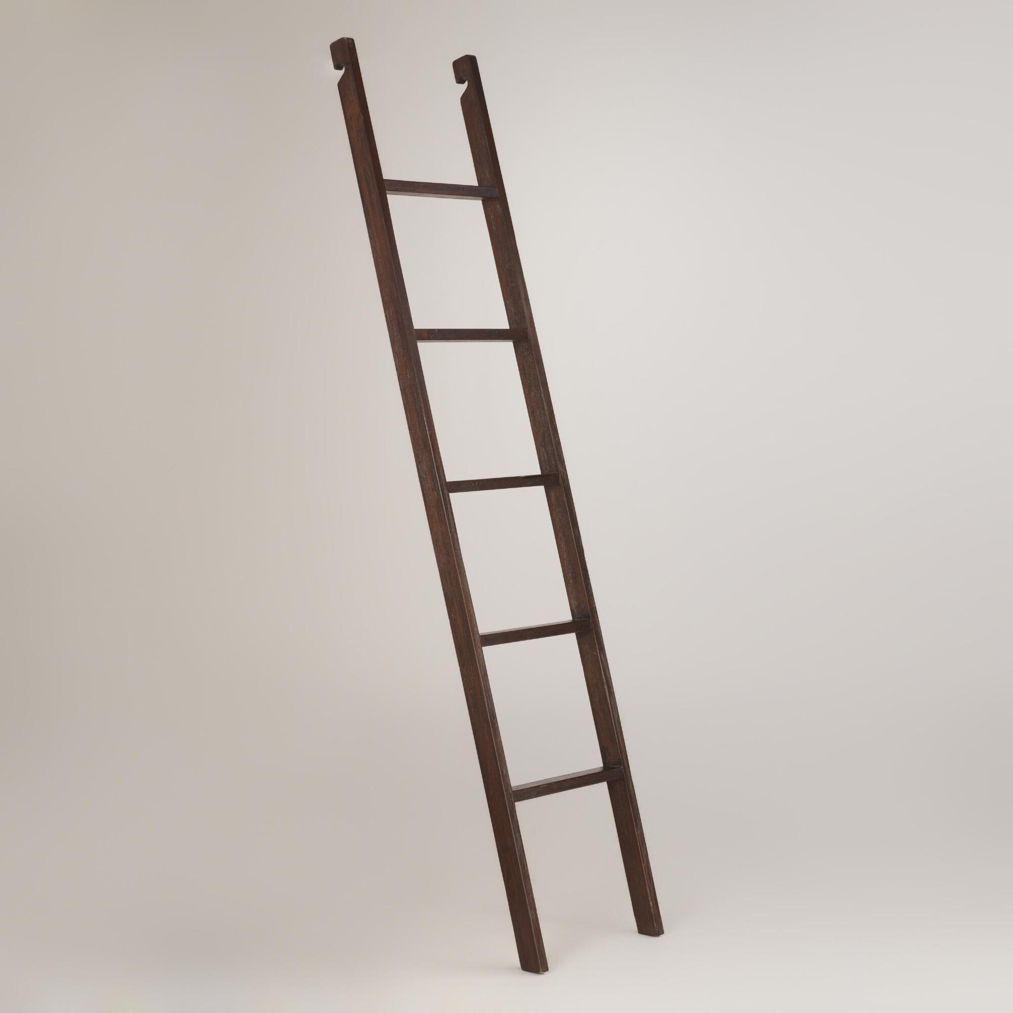 Espresso augustus bookshelf ladder bookshelf ladder