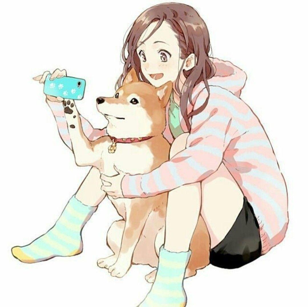 Аниме картинки с собачками