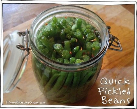 Quick Pickled Beans