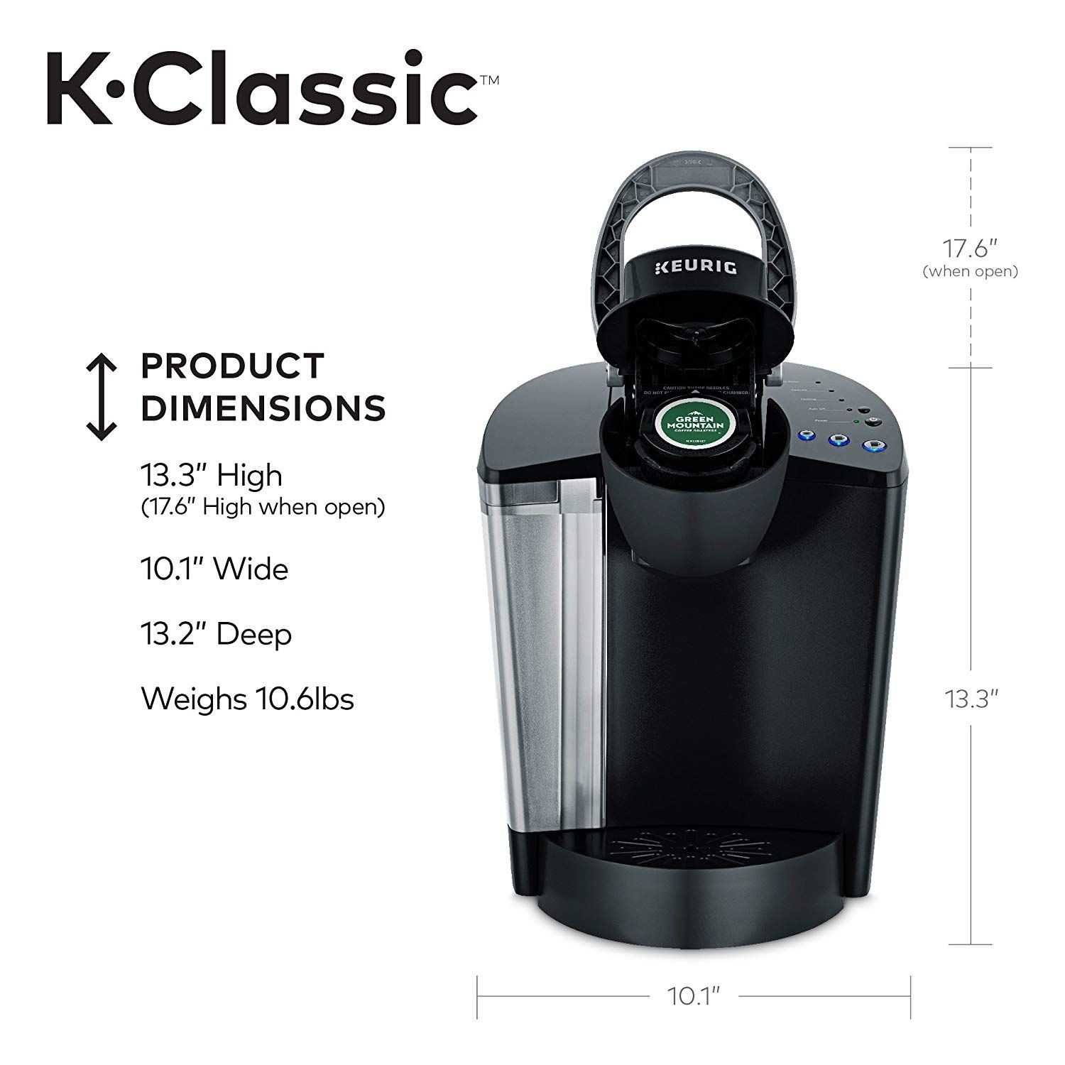 Keurig KClassic Coffee Maker Single Serve KCup Pod