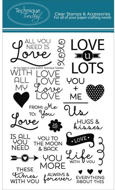 All You Need Is Love - Clear Stamp