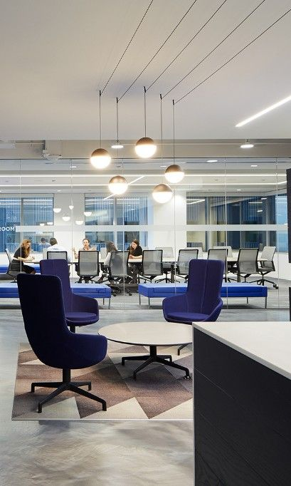 office seating area. Inside CCGA\u0027s Modern Chicago Office. #seatingarea #design #moderndesign Http:// Office Seating Area \