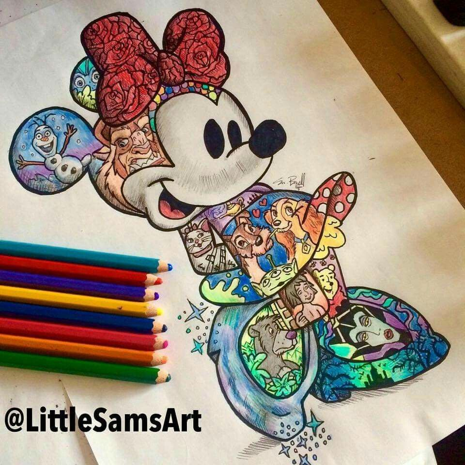 Minnie with a whole bunch of other character disney love for Disney temporary tattoos mickey mouse