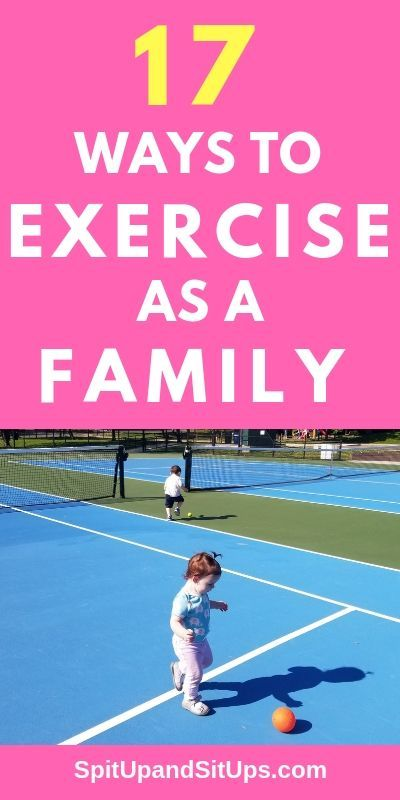 Here are 17 fun ways to exercise as a family so you can achieve your goals while showing your kids t...